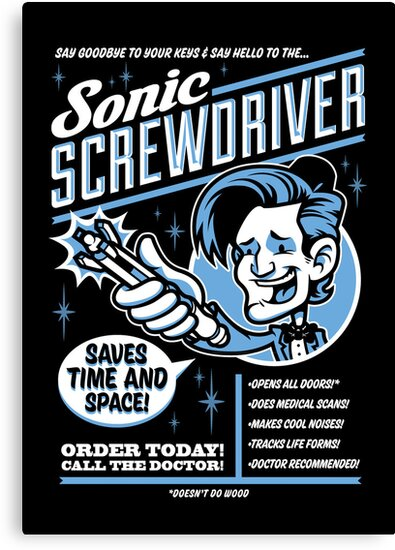 Sonic Screwdriver Ad by harebrained