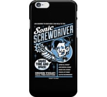 Sonic Screwdriver Ad iPhone Case/Skin