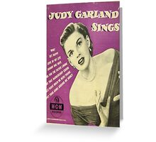 JUDY GARLAND SINGS ~ EARLY 1950'S 45 BOX SET Greeting Card