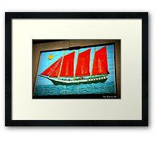 Sailing ship Framed Print