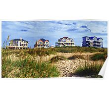 Outer Banks Beach Houses Poster