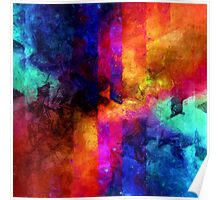 triangle space oil painting Poster