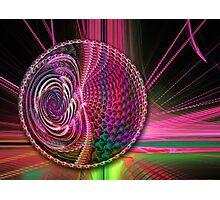 Beams and a Ball, abstract fractal artwork Photographic Print