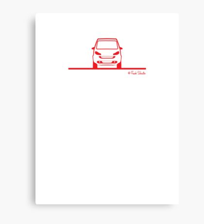 Smart 4 Two Front Red Canvas Print