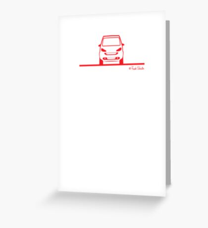 Smart 4 Two Front Red Greeting Card