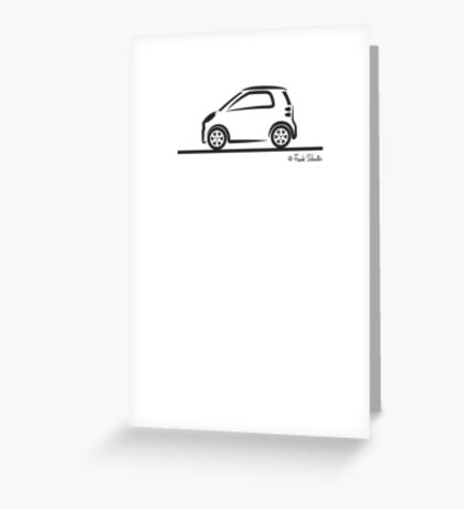 Smart 4 Two Side BLK Greeting Card