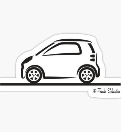 Smart 4 Two Side BLK Sticker