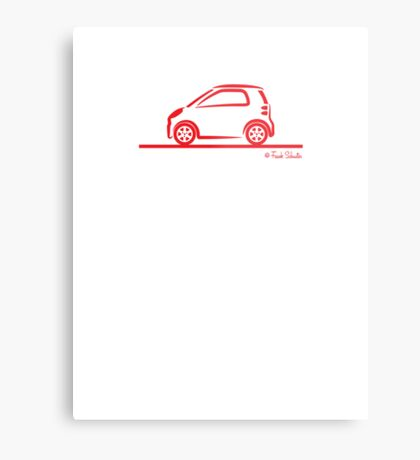 Smart 4 Two Side Red Metal Print
