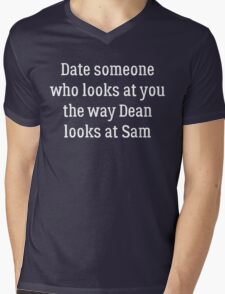 Date Someone Who - Dean & Sam Mens V-Neck T-Shirt