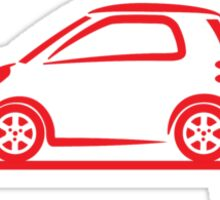 Smart 4 Two Side Red Sticker