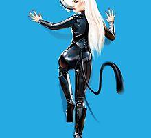 Amy Grey Sexy Cat by Brian Gibbs
