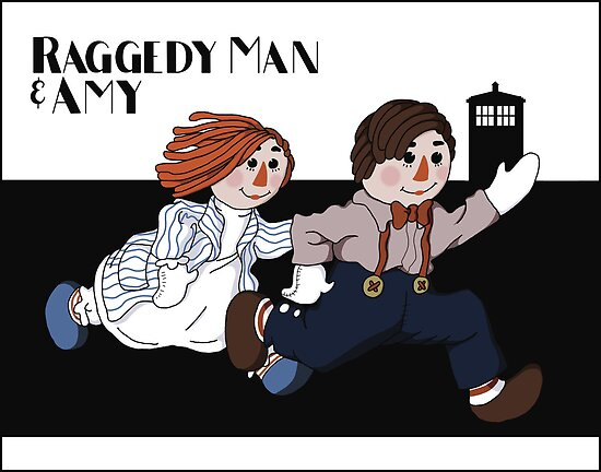 Raggedy Man and Amy by mikaelaK