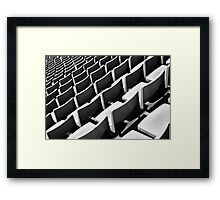 The Seating Plan Framed Print