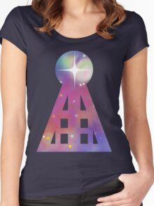 Triangular Nebula Women's Fitted Scoop T-Shirt