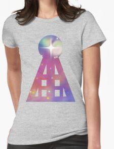 Triangular Nebula Womens Fitted T-Shirt