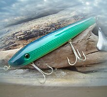 AJS Green Swimmer Flaptail Saltwater Lure by MotherNature