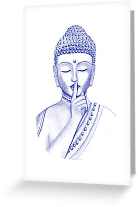 Shh ... do not disturb - Buddha  by rainbowflowers