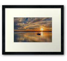 Central Coast Sunset  9-3-13. Framed Print