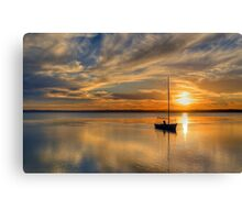 Central Coast Sunset  9-3-13. Canvas Print