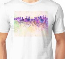 Singapore skyline in watercolor background Unisex T-Shirt