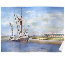 Thames Barge at Maldon Poster