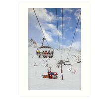 Ski Lift  Art Print