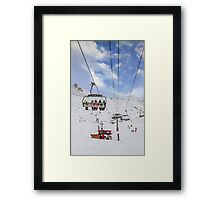Ski Lift  Framed Print