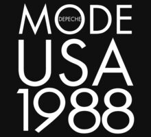 Depeche Mode : USA 1988 - 2 - White by Luc Lambert