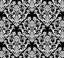 Black & White Damask Pattern by Heidi Hermes