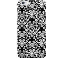 Black & White Damask Pattern iPhone Case/Skin