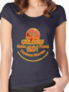 Sleeping Dogs, Golden Koi Noodle Bar Women's Fitted Scoop T-Shirt