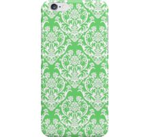 Spring Green and White Damask iPhone Case/Skin