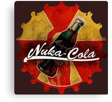 Fallout Nuka Cola red and yellow cap logo Canvas Print