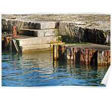 Harbour Steps ~ Lyme Regis Poster