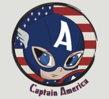 Captain America Chibi by PokeNarMew