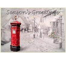 Seasons Greetings Postbox Photographic Print