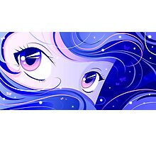 Blue Manga Eyes Photographic Print