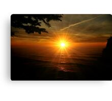 SUPER SUNSET OREGON COAST Canvas Print