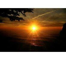 SUPER SUNSET OREGON COAST Photographic Print