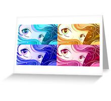 Manga Eyes Greeting Card