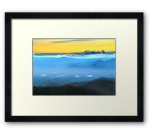 LEMON SKY Sunrise BLUE  SMOKIES LAKES Framed Print