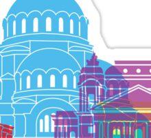 Sofia skyline pop Sticker