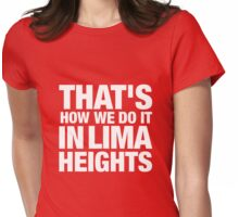 Lima Heights - White Womens Fitted T-Shirt