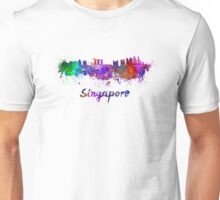 Singapore skyline in watercolor Unisex T-Shirt