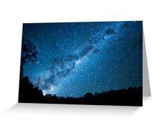 Maroon Dam Milky Way Greeting Card