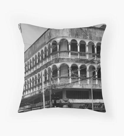 Old Town Phuket Architecture Throw Pillow