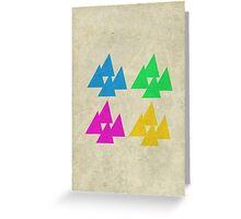 Tri-Quad Greeting Card