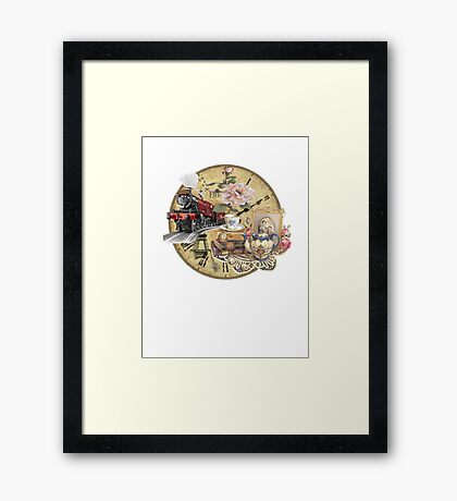 old-timey tea time Framed Print