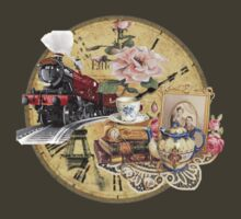 old-timey tea time by Tia Knight