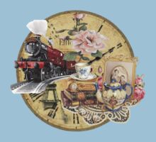 old-timey tea time One Piece - Short Sleeve